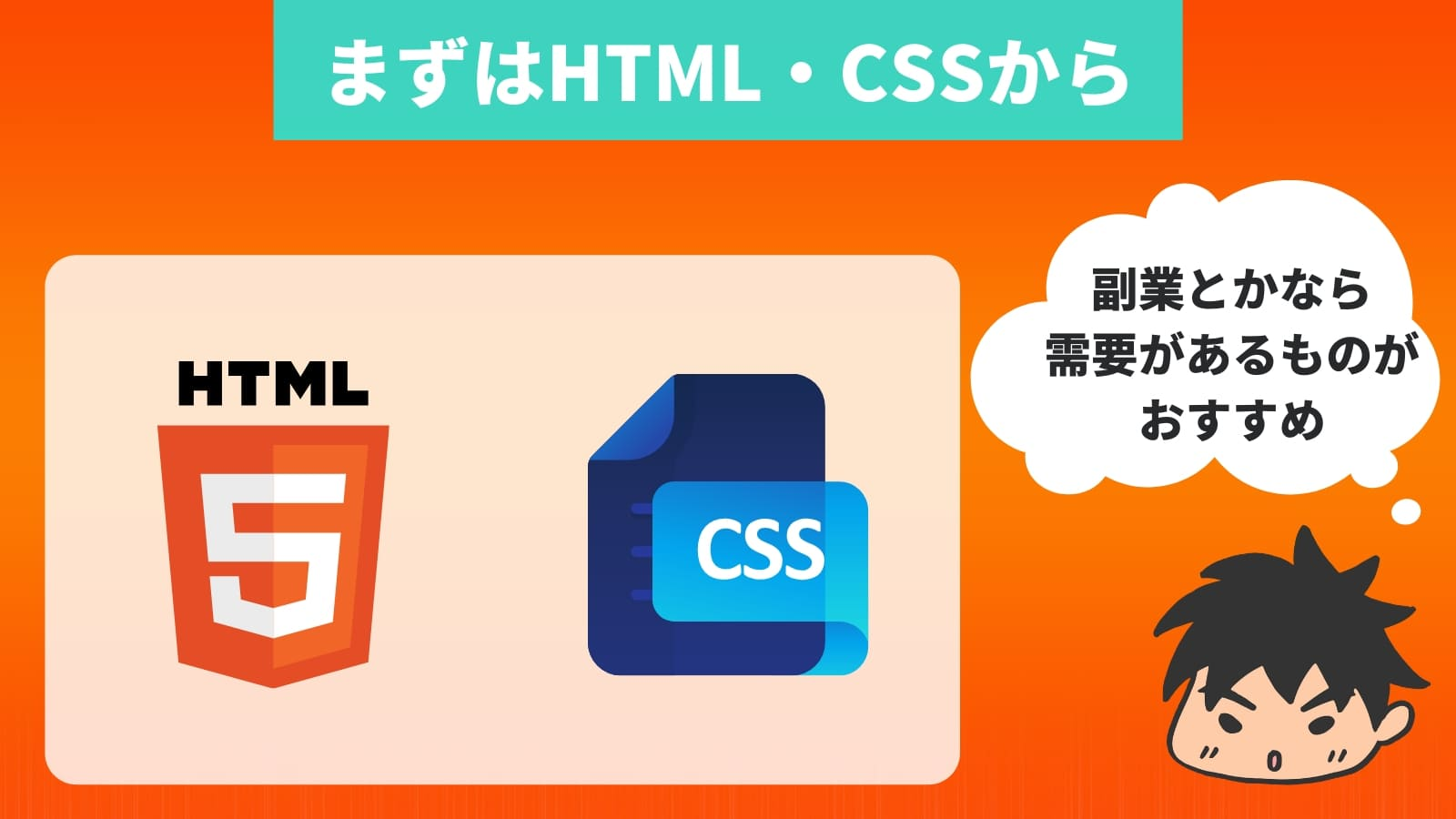まずはHTML・CSSから